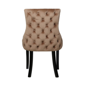 Champagne Tufted Back Chair