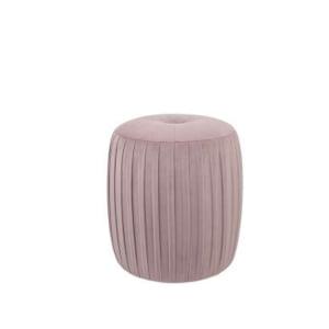 Blush Pink Velvet Pouffe