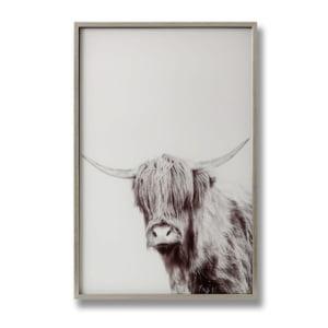 Highland Cow Glass Wall Art Left