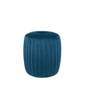 Sapphire Blue Velvet Pouffe