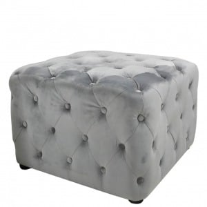 Scone Grey Square Stool