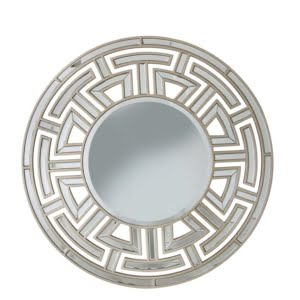 Champagne Round Wall Mirror