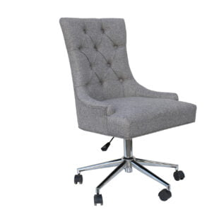 Grey Button Office Chair