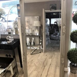 Silver Bevelled Glass Mirror