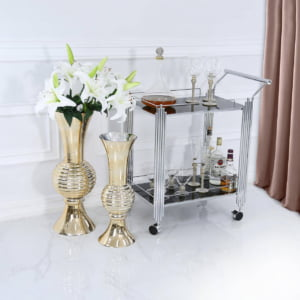 Black & Chrome Drinks Trolley