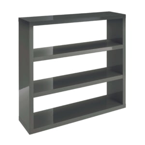Perla Charcoal Gloss Bookcase