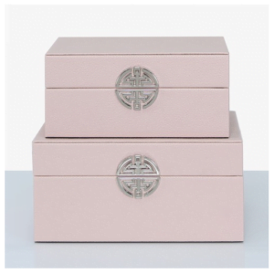 Rose Pink & Silver Boxes
