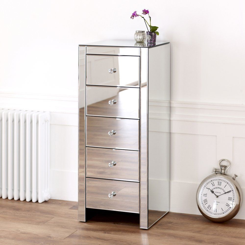 Arabella Glass Five Drawer Cabinet