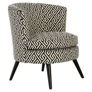 Black and White Geometric Chair