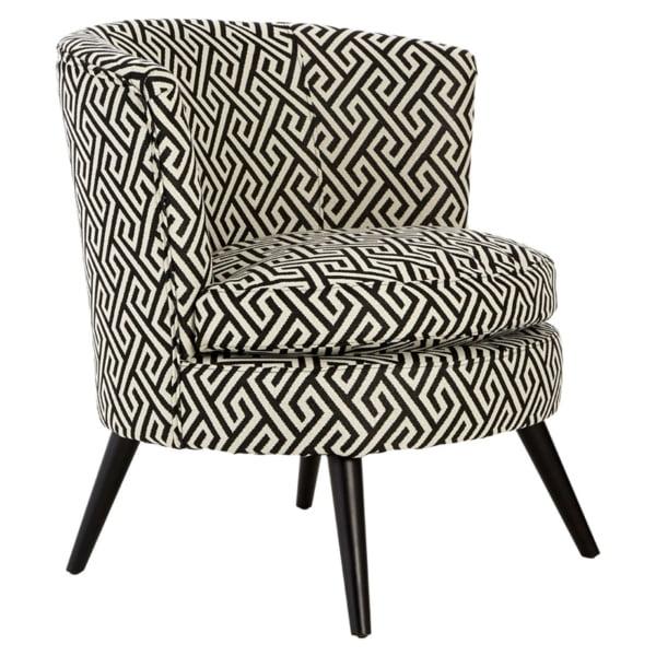 Black and White Geometric Chair