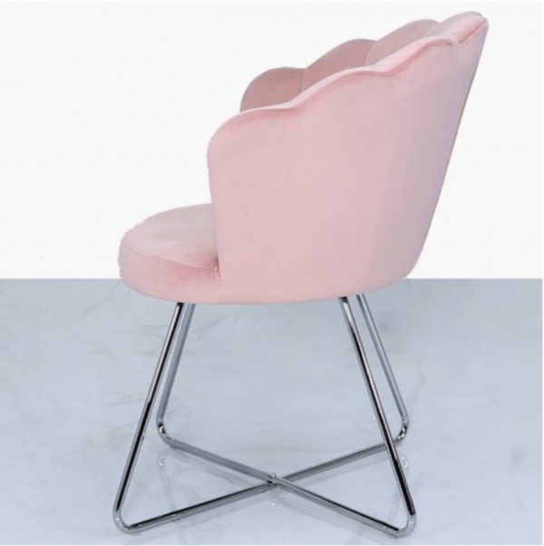 Blush Pink Velvet Shell Chair