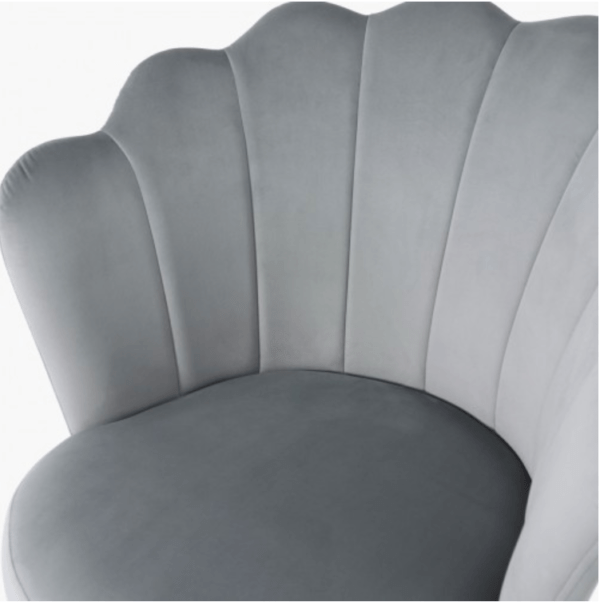Silver Velvet Shell Chair