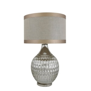 Taupe Mercury Glass Table Lamp