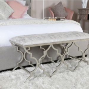 Akila Silver Ornate Bench