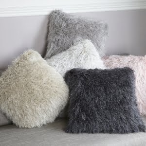Assorted Shimmer Fluffy Cushion