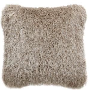 Beige Shimmer Fluffy Cushion