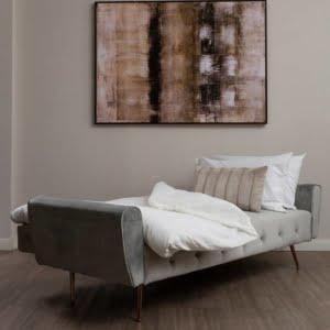 Bijou Grey Velvet Sofa Bed
