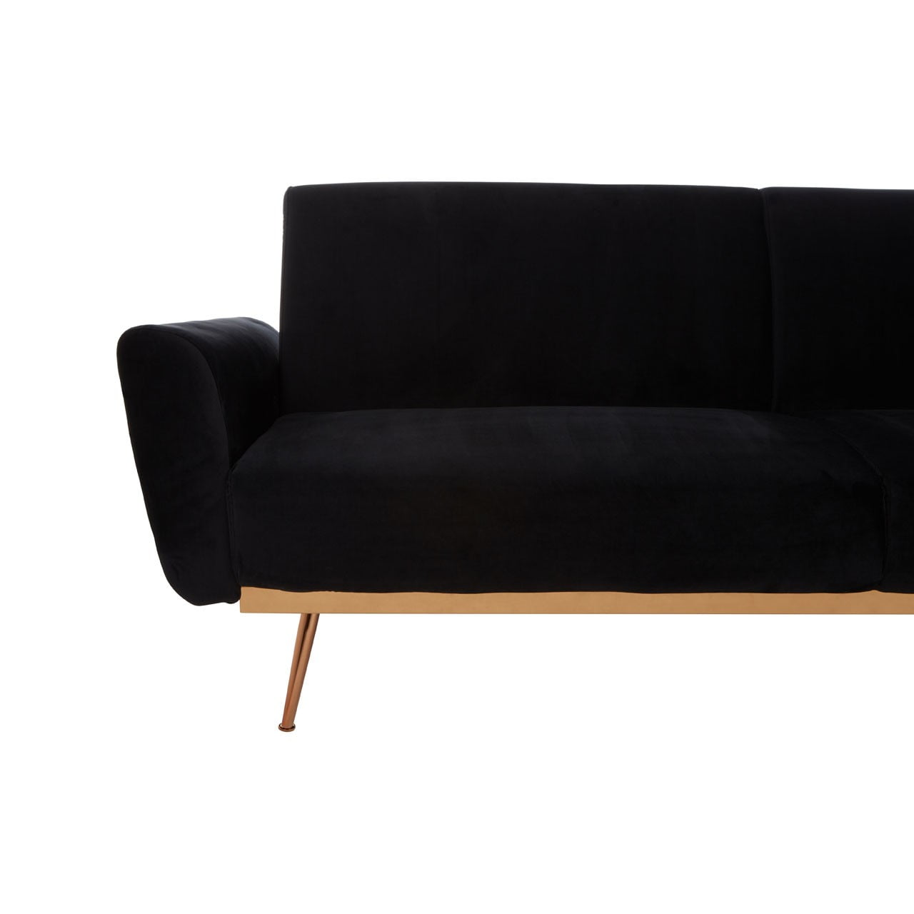 Boden Black Velvet Sofa Bed No5a Interiors