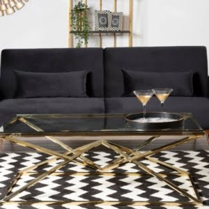 Boden Black Velvet Sofa Bed