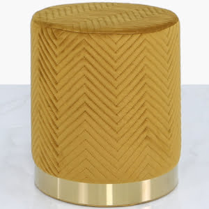 Charlotte Mustard Yellow & Gold Footstool