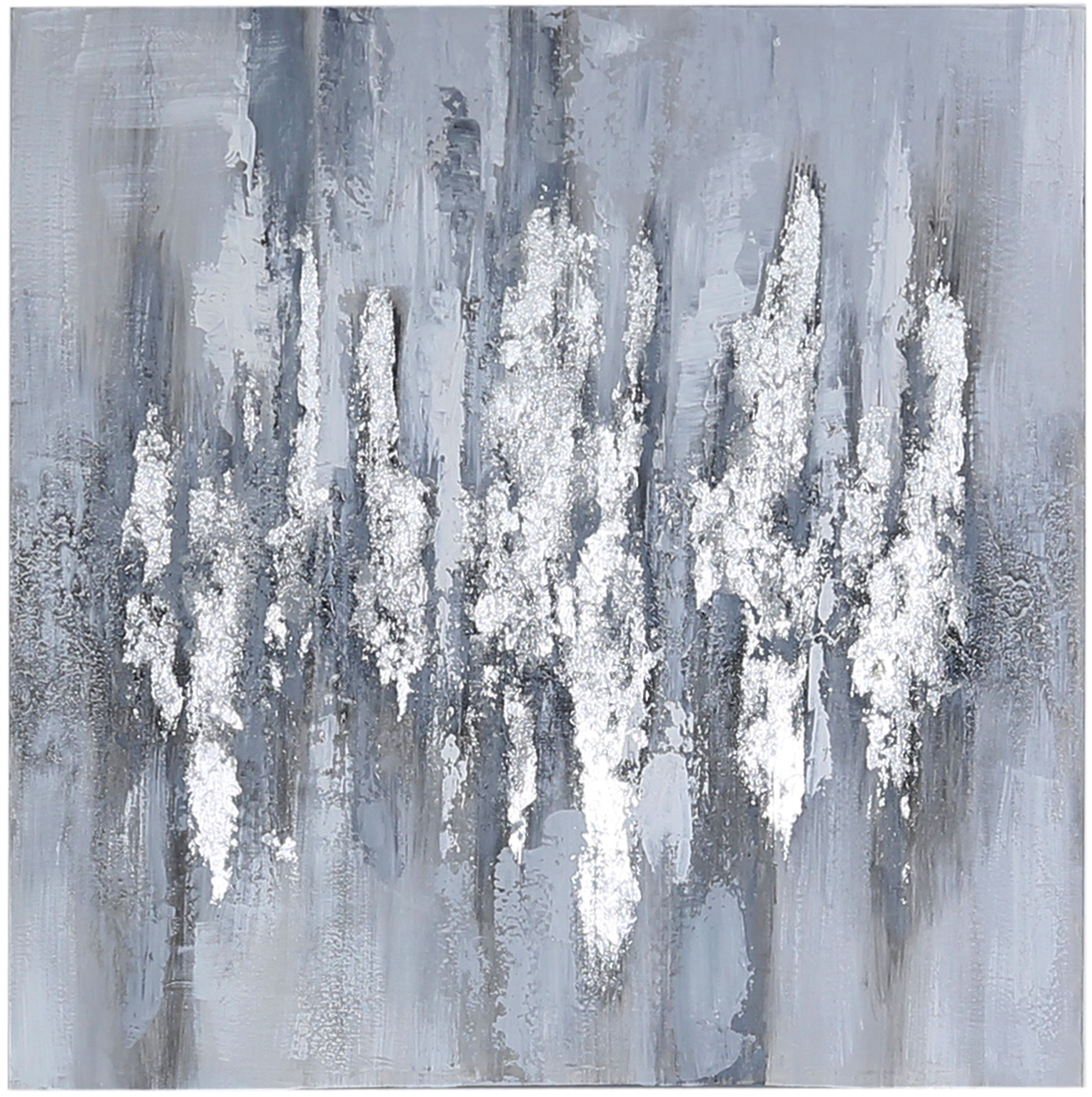 Contemporary Silver Abstract Wall Art
