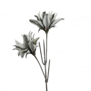 Faux Grey Striped Flower