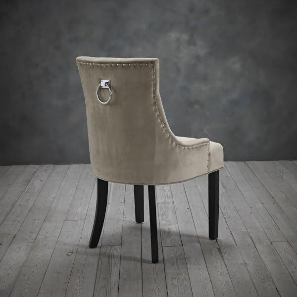 Mila Set of Two Beige Velvet Chairs