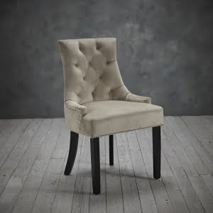 Mila Set of Two Beige Velvet Chairs