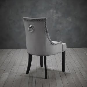 Mila Set of Two Grey Velvet Chairs
