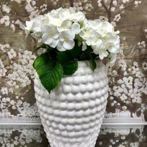 White Bobble Effect Vase