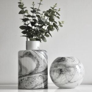 Carly Marble Glass Vase