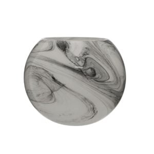 Carly Marble Effect Round Vase
