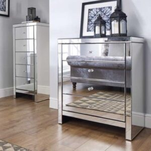 Briana Mirrored 3 Drawer Chest