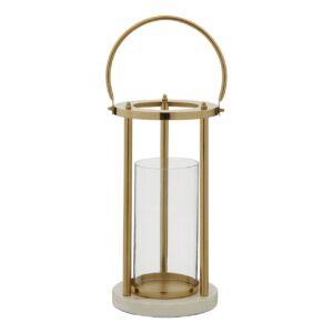 Alina Gold Hurricane Lamp