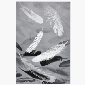 Black And Silver Feather Wall Art
