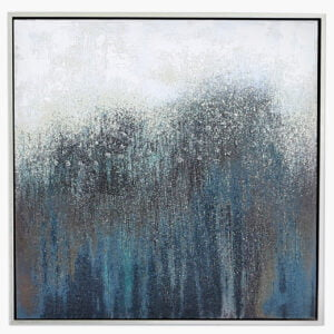 Contemporary Blue Abstract Wall Art