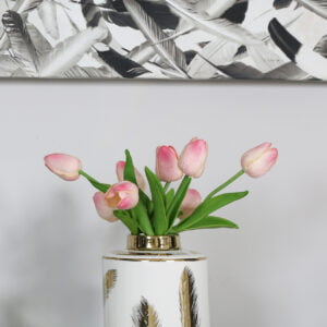 Faux Pink Bunch of Tulips