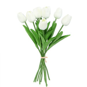 Faux White Bunch of Tulips