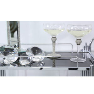 Silver Diamante Champagne Glass