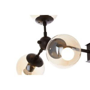 Anaya Six-Bulb Black Pendant Light