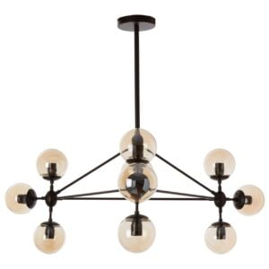 Anaya Ten-Bulb Black Pendant Light