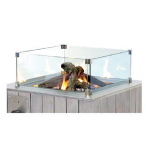 Cosi Square Glass Fire Pit Protector