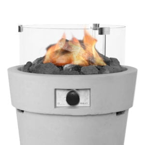 Cosi Round Glass Fire Pit Protector
