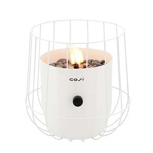 Cosi White Basket Fire Lantern