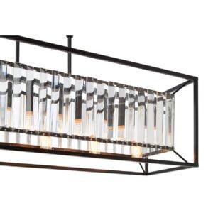 Melina Multi-Bulb Black Pendant Light