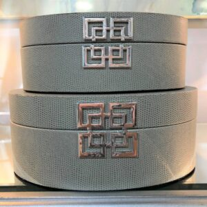 Grey Faux Snakeskin Boxes