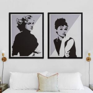 Audrey & Marilyn Portrait Canvases