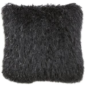 Charcoal Shimmer Fluffy Cushion