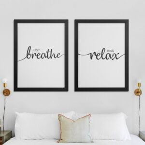 Just Breathe And Relax Canvases