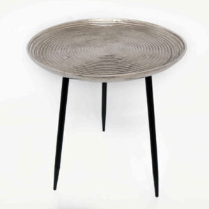 Mae Silver Effect Side Table